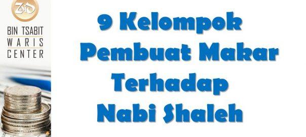9 kelompok pembuat makar terhadap nabi shaleh